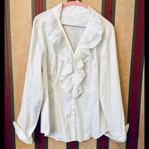 🆕 NWOT | WHBM | White Button Up/Down Dress Shirt